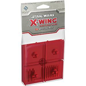 Star Wars X-Wing Miniatures Game: Red Bases and Pegs