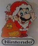 Christmas Mario Store Sign