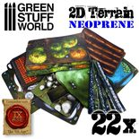 GSW 2D Neoprene Terrain set (22pcs)