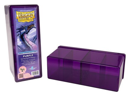 Dragon Shield Deck Box, 4 Compartment, Violet