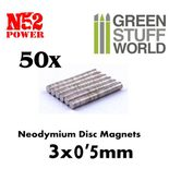 GSW N52 Neodymium Magnets 3x0,5mm (50pcs)