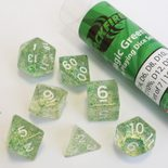 Blackfire Dice Set (7x 16mm Dice, Magic Green)