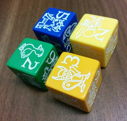 Dice D6, with Munchkin Illustrations (Various colors)