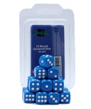 Blackfire Dice Set (15xD6 16mm, Opaque Blue)