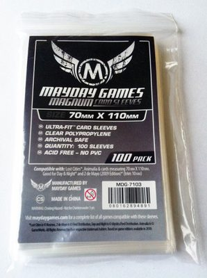 "Mayday Games Board Game Sleeves Ultra-Fit ""Lost Cities"" 70x110 mm (100ct)"