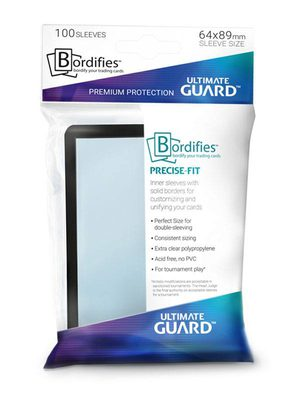 Ultimate Guard Bordifies Precise-Fit Sleeves Standard Size Black (100pcs)