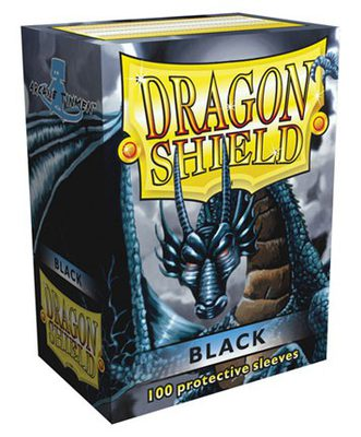 Dragon Shield Sleeves Standard Size Black (100ct)