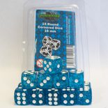 Blackfire Dice Set (15xD6 16mm, Glitter Blue)