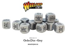 Bolt Action Order Dice: Grey