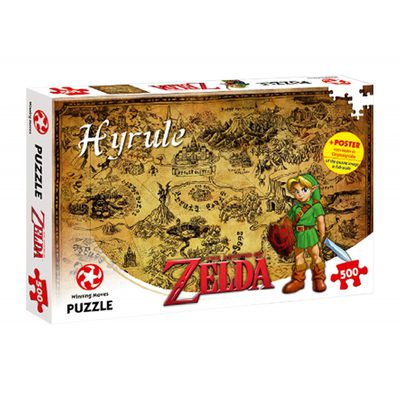 Legend of Zelda Hyrule Map Puzzle (500 pieces)