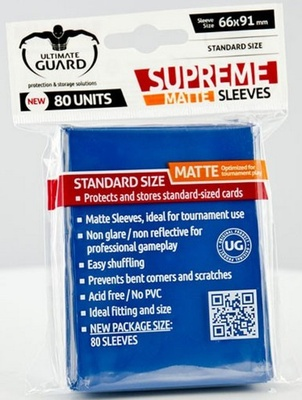Ultimate Guard Supreme Sleeves Matte Blue (80pcs)