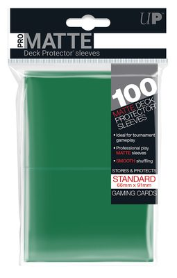 Ultra Pro Pro-Matte Deck Protector Standard Sleeves, Green (100ct)