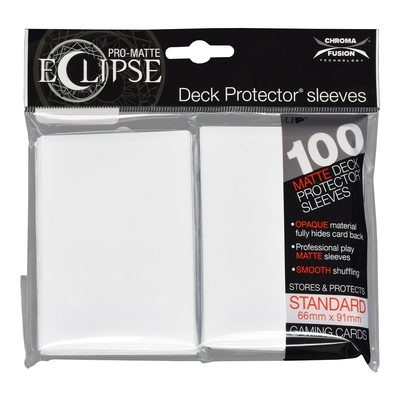Ultra Pro Sleeves Standard Size Eclipse Arctic White (100ct)
