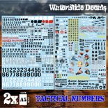 GSW Waterslide Transfer Decals: Tactical Numerals and Pinups (2 sheets)