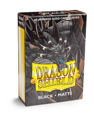 Dragon Shield Small Sleeves Matte Black (60ct)