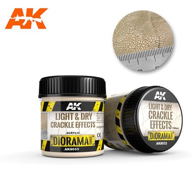 AK Interactive Crackle Effects: Light and Dry 100ml