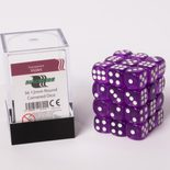 Blackfire Dice Cube, 36x 12mm D6, Transparent Violet