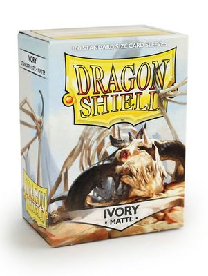 Dragon Shield Sleeves Standard Size Matte Ivory (100ct)