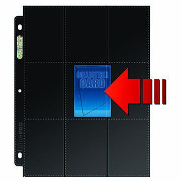 Ultra Pro 9-Pocket Side Loading Black Binder Page