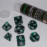 Blackfire Dice Set (7x 16mm Dice, Mystic Green)