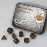 Blackfire Dice Set Solid Metal: Gun Metal