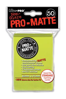 Ultra Pro Sleeves Matte Bright Yellow (50pcs)