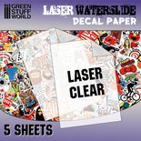 GSW Waterslide Decals: Laser Transparent A4 (5kpl)