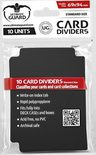 Ultimate Guard Card Dividers -  Black (10pcs)
