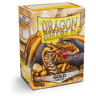 Dragon Shield Sleeves Standard Size Matte Gold (100ct)