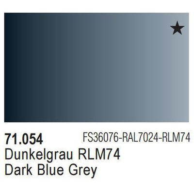 Vallejo Model Air: Dark Grey Blue 71.054
