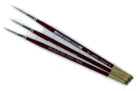 Vallejo Brushes, Synthetic Toray 4/0, 3/0, 2/0