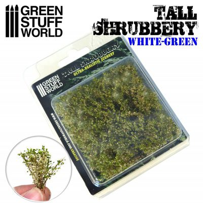 GSW Tall Shrubbery: White and Green