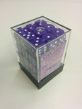 Chessex Dice Set 36xD6 12mm, Opaque Purple with White Pips