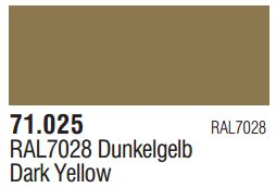 Vallejo Model Air: Dark Yellow 71.025