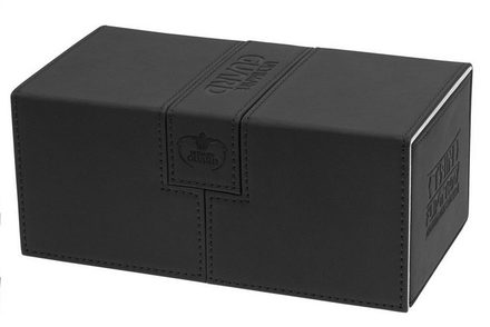 Ultimate Guard Deck Box,  Twin Flip'n'Tray Xenoskin 200+ Black
