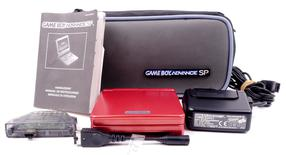 Gameboy Advance SP Console (Red) + Bag / Wireless Adapter