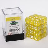 Blackfire Dice Cube, 36x 12mm D6, Transparent Yellow