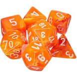 Chessex Dice Set 7x Polyhedral, Vortex Solar with White Pips