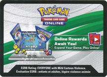 TAG TEAM Generations Premium Collection Unused Online Booster - Sun & Moon Promos