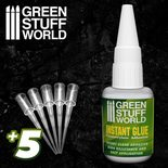 GSW Super Glue: Cyanocrylate Adhesive EXTRA with precision tips