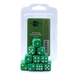 Blackfire Dice Set (15xD6 16mm, Opaque Green)