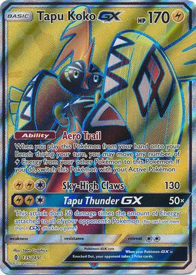 Tapu Koko GX Full Art 135/145 - Sun & Moon Guardians Rising