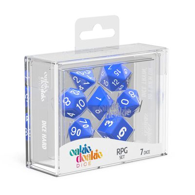 Oakie Doakie Dice RPG Set Solid Blue (7)
