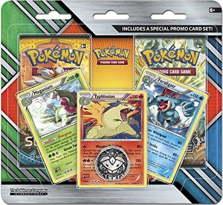 Pokemon Enhanced 2-Pack Blister Meganium, Typhlosion, Feraligatr