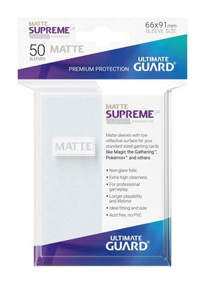 Ultimate Guard Supreme UX Matte Sleeves Frosted (50pcs)