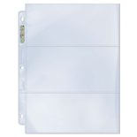 "Ultra Pro Platinum Binder Page 3-Pocket 3,5"" x 7,5"", box (100ct)"