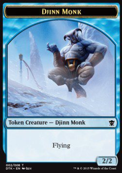 Djinn Monk TOKEN 2/2 - Dragons of Tarkir