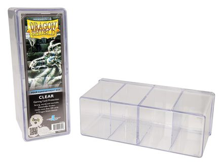 Dragon Shield Deck Box, 4 Compartment, Clear