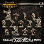 Cryx Mechanithralls with weapon attachments