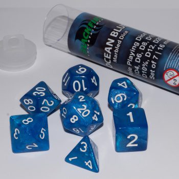 Blackfire Dice Set (7x 16mm Dice, Ocean Blue)